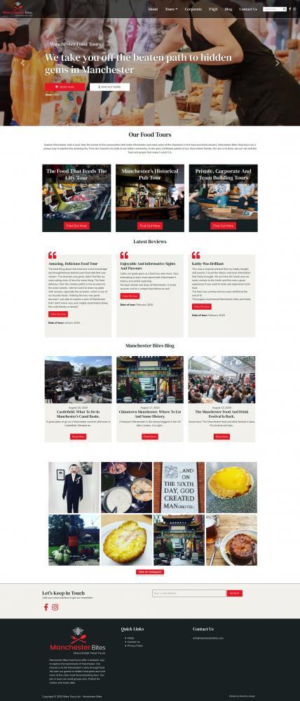Manchester bites website screenshot