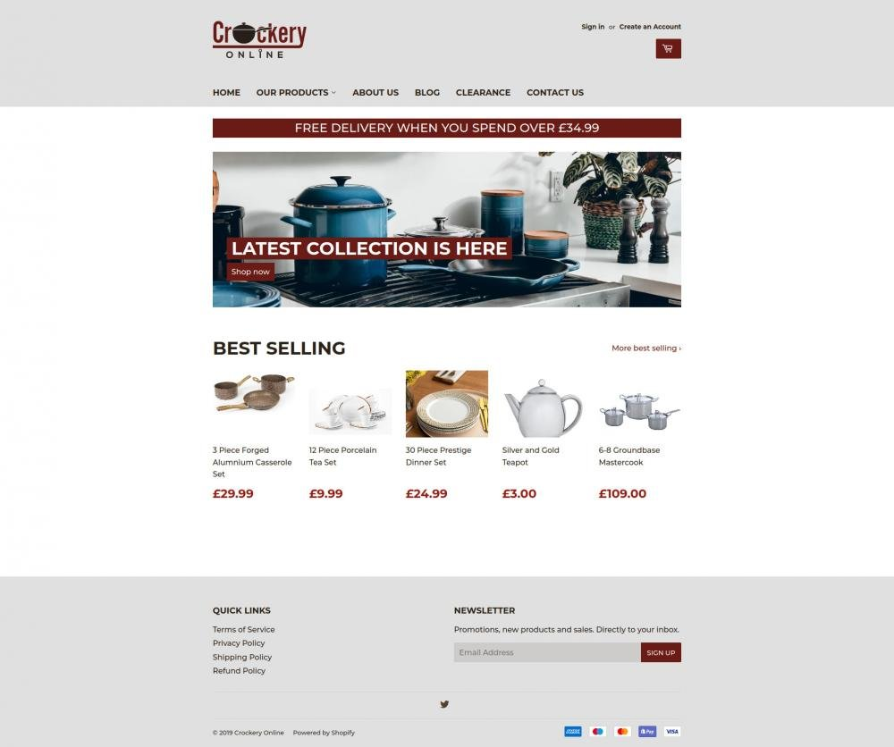 Crockery Online screenshot